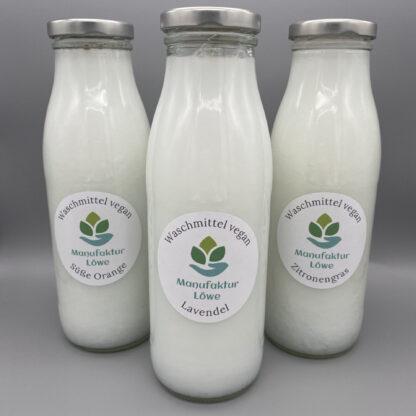 Waschmittel vegan 500 ml 3x Vorderseite