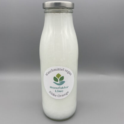 Waschmittel vegan 500 ml Orange Vorderseite