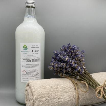 Waschmittel vegan 1 Liter Lavendel Rückseite