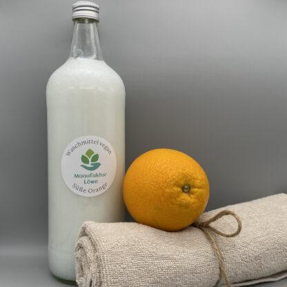 Waschmittel vegan 1 Liter Orange Vorderseite