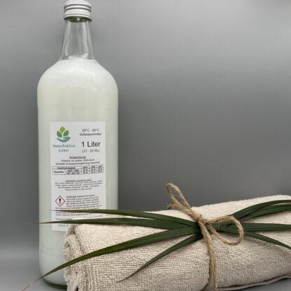 Waschmittel vegan 1 Liter Zitronengras Rückseite