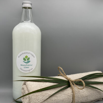 Waschmittel vegan 1 Liter Zitronengras Vorderseite